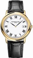 Raymond Weil Tradition Slim Mens Wristwatch 54661-PC-00300