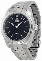 Tudor Glamour Mechanical Mens Wristwatch 57000-BKSS
