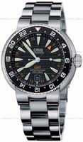 Oris Divers GMT Date Mens Wristwatch 668.7639.84.54.MB