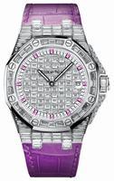Audemars Piguet Royal Oak Offshore Quartz White Gold Ladies Wristwatch 67543BC.ZZ.DXXXCR.01