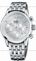 Oris Artelier Chronograph Mens Wristwatch 676.7603.4051.MB