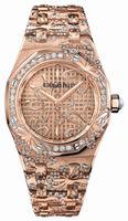 Audemars Piguet Royal Oak Floral Quartz 33mm Ladies Wristwatch 67617OR.ZZ.1235OR.01