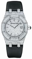 Audemars Piguet Royal Oak Ladies Full Pave Quartz 33mm Wristwatch 67625BC.ZZ.D004SU.01