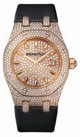 Audemars Piguet Royal Oak Ladies Full Pave Quartz 33mm Wristwatch 67625OR.ZZ.D009SU.01