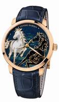Ulysse Nardin Classico Enamel Mens Wristwatch 8156-111-2/CHEVAL