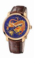 Ulysse Nardin Classico Enamel Mens Wristwatch 8156-111-2/DRAGON