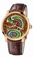 Ulysse Nardin Classico Enamel Mens Wristwatch 8156-111-2/SNAKE