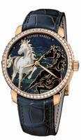 Ulysse Nardin Classico Enamel Mens Wristwatch 8156-111B-2/CHEVAL