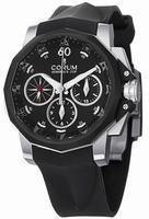 Corum Admirals Cup Black Split Seconds Mens Wristwatch 986.581.98-F371-AN52