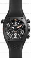 Bell & Ross BR 02-94 Chronographe Carbon Mens Wristwatch BR02-CHR-BL-CA