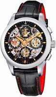 Perrelet Chronograph Skeleton GMT Mens Wristwatch A1010.9