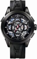 Perrelet Split Second Skeleton Chronograph Mens Wristwatch A1045.2
