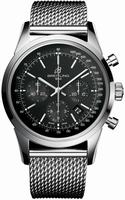 Breitling Transocean Chronograph Mens Wristwatch AB015212-BA99-SS