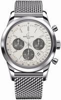 Breitling Transocean Chronograph Mens Wristwatch AB015212.G724.SS