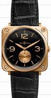 Bell & Ross BR S Mecanique Pink Gold Unisex Wristwatch BRS-PKGOLD-BLACK_D