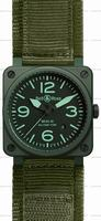 Bell & Ross BR 03-92 Military Ceramic Mens Wristwatch BR0392-CERAM-MIL