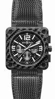 Bell & Ross Aviation BR0194-CA-FIBER Mens Wristwatch