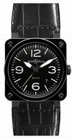 Bell & Ross Aviation BR0392-Black Ceramic Mens Wristwatch