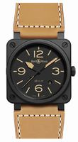 Bell & Ross Aviation BR0392-Heritage Ceramic Mens Wristwatch