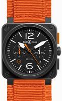 Bell & Ross Aviation BR0394-O-CA Mens Wristwatch