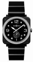 Bell & Ross BR S Black Ceramic Dimonds Unisex Wristwatch