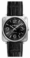 Bell & Ross BR S Officer Black Unisex Wristwatch