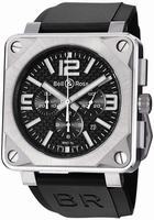 Bell & Ross Aviation Chronograph Mens Wristwatch BR01-94TTNMCRBN