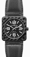 Bell & Ross Aviation BR0192-CA-FIBER Mens Wristwatch