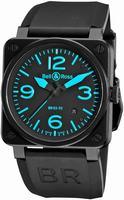 Bell & Ross BR03 Mens Wristwatch BR03-92BLUE