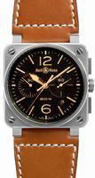 Bell & Ross Aviation BR0394-GOLDEN-HERITAGE Mens Wristwatch