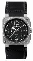 Bell & Ross Aviation BR0394-BL-ST Mens Wristwatch