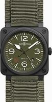 Bell & Ross Aviation BR0392-MIL-CE Mens Wristwatch