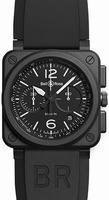 Bell & Ross Aviation BR0394-BL-CE Mens Wristwatch