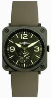 Bell & Ross Aviation BRS-CERAM-MIL/SRB Unisex Wristwatch