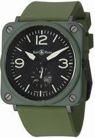 Bell & Ross BRS Military Ceramic Unisex Wristwatch BRS-MLTRYCRMCRB