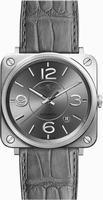 Bell & Ross Aviation BRS-OFFICER-RUTHENIUM Unisex Wristwatch