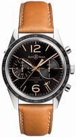 Bell & Ross Vintage BRV126-FLYBACK-GMT Mens Wristwatch