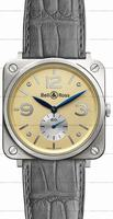 Bell & Ross BR S Mecanique White Gold Unisex Wristwatch BRS-WHGOLD-IVORY_D