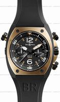 Bell & Ross BR 02-94 Chronographe Pink Gold & Carbon Mens Wristwatch BR02-CHR-BICOLOR
