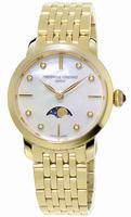 Frederique Constant Slim Line Moonphase Ladies Wristwatch FC-206MPWD1S5B