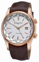 Frederique Constant Index Worldtimer Quartz Mens Wristwatch FC-255V6B4