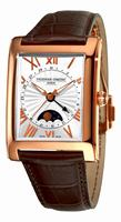 Frederique Constant Maxime Carree Moonphase Mens Wristwatch FC-330MS4MC4