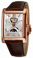 Frederique Constant Carree Automatic Moonphase and Date Mens Wristwatch FC-335MS4MC4