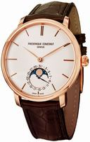 Frederique Constant Slim Line Moonphase Mens Wristwatch FC-705V4S4