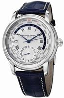 Frederique Constant Worldtimer Mens Wristwatch FC-718MC4H6-BLUE