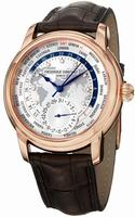 Frederique Constant Worldtimer Mens Wristwatch FC-718WM4H4