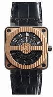 Bell & Ross Aviation BR 01 Compass Rose Goad & Carbon Mens Wristwatch