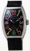 Franck Muller Mens Small Cintree Curvex Midsize Mens Wristwatch 5850 SC COL DRM O-8