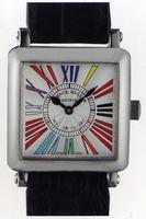 Franck Muller Master Square Mens Large Unisex Wristwatch 6000 H SC DT R-18