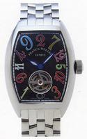 Franck Muller Cintree Curvex Crazy Hours Tourbillon Extra-Large Mens Wristwatch 7880 T CH COL DRM-1